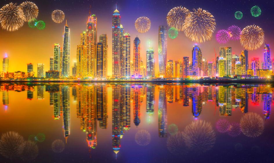 احتفالات راس السنة دبي - الامارات