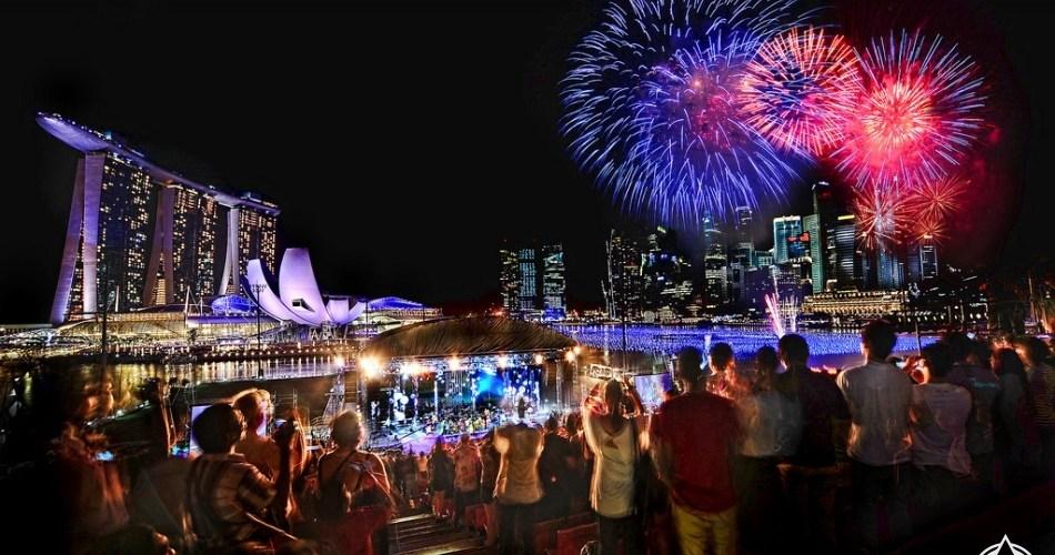 احتفالات راس السنة فى سنغافورة