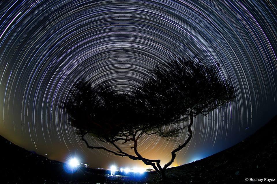 حركة النجوم فى محمية وادى الجمال