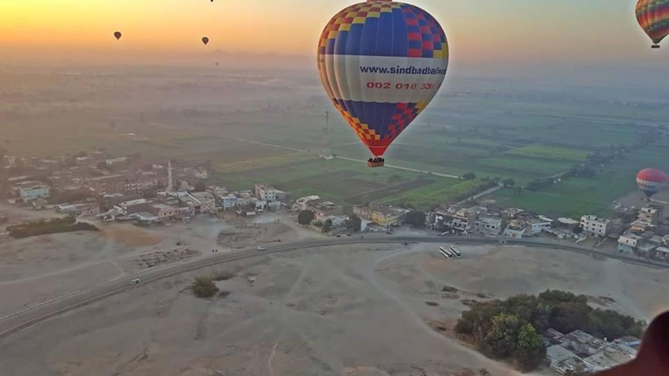 رحلة البالون الطائر بمدينة الاقصر