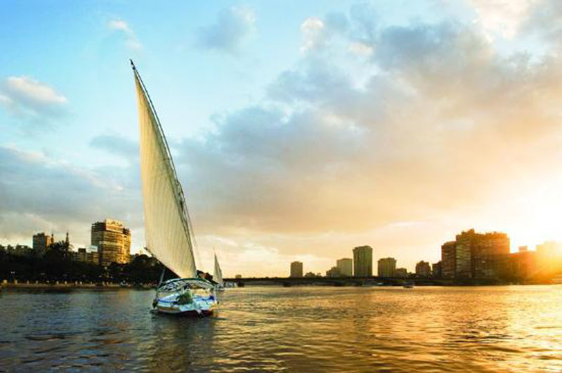 فلوكة في النيل