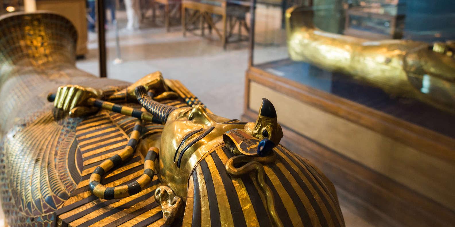 توت عنخ امون بالمتحف المصري